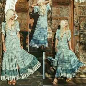 Spell Oracle Gown in Sage